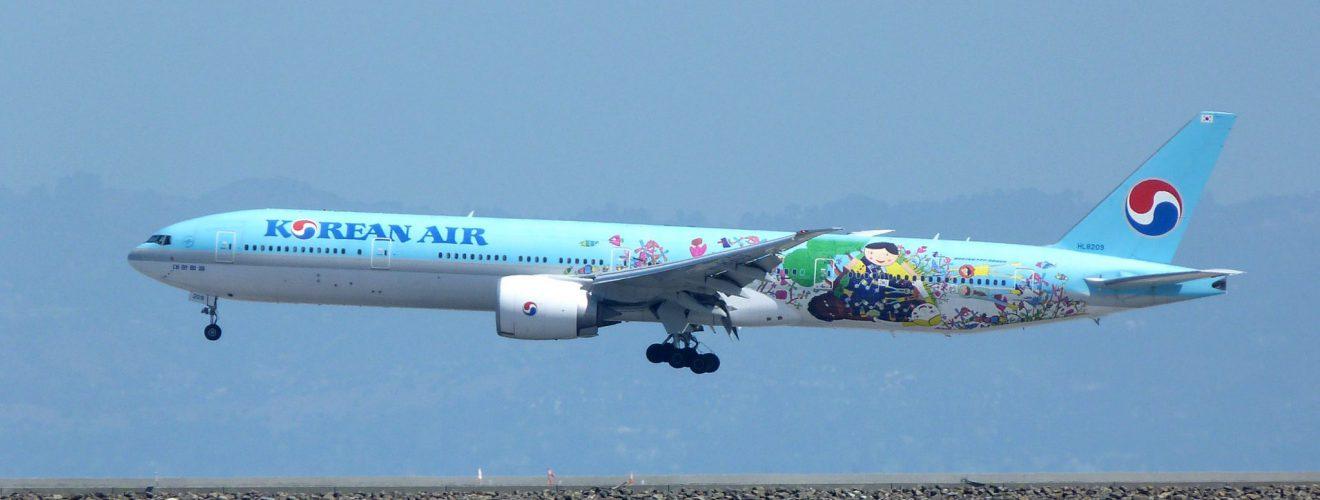 Korean AirLines Children Drawing Boeing 777 3B5ER HL8209 大韓航空 KAL 頭等艙旅客專屬的優質照顧服務方案