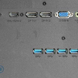 usb port extender behind lcd monitor Philips 43 BDM4350UC 電腦螢幕選購要注意的事:LCD背面的USB擴充孔