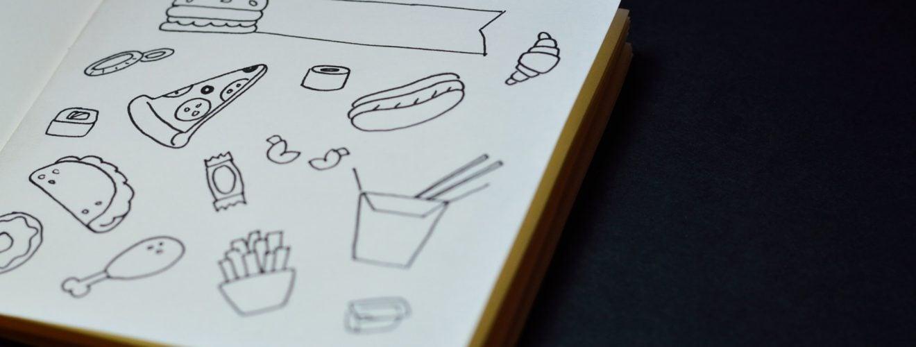 Junk Food Paint Line Cute Book 危害身體健康的十大垃圾食品大解析