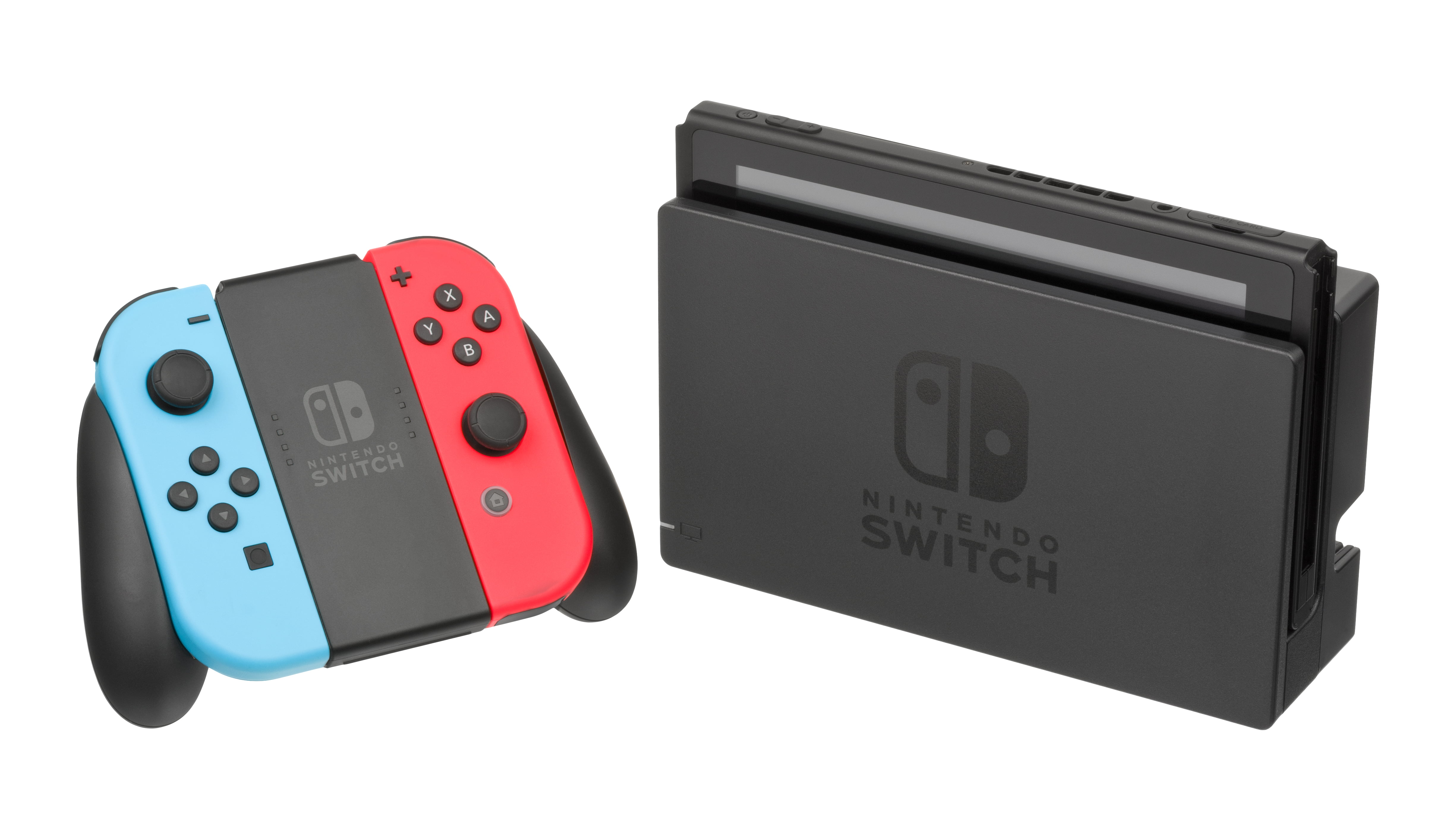Nintendo-Switch-Console-Docked-JoyCon Red Blue