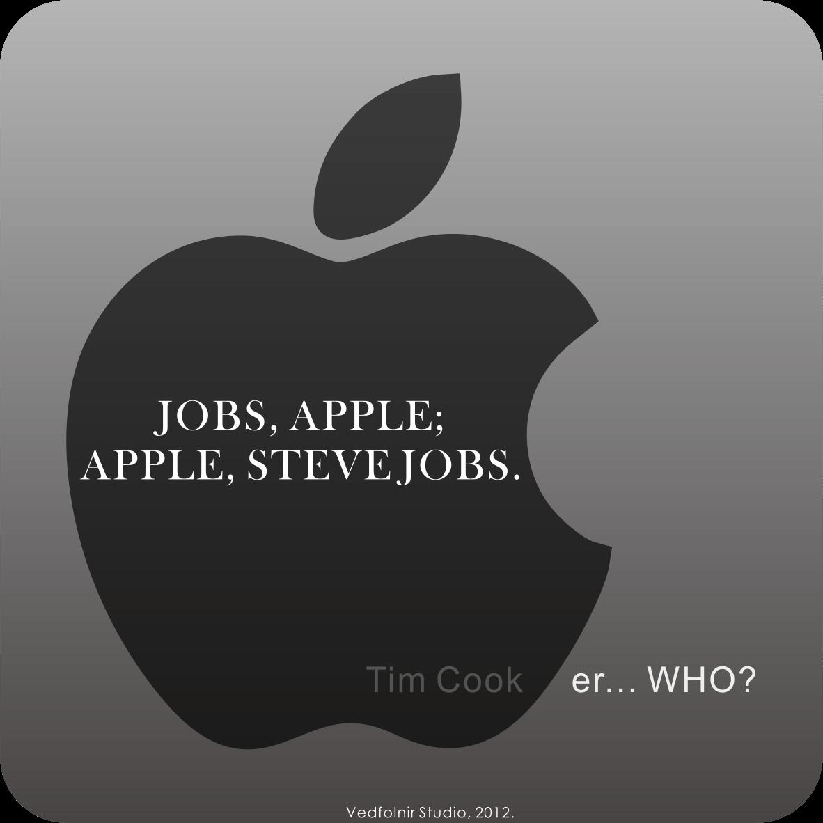 Steve Jobs Apple Tim Cook Steve Jobs and Apple, and Tim Cook.