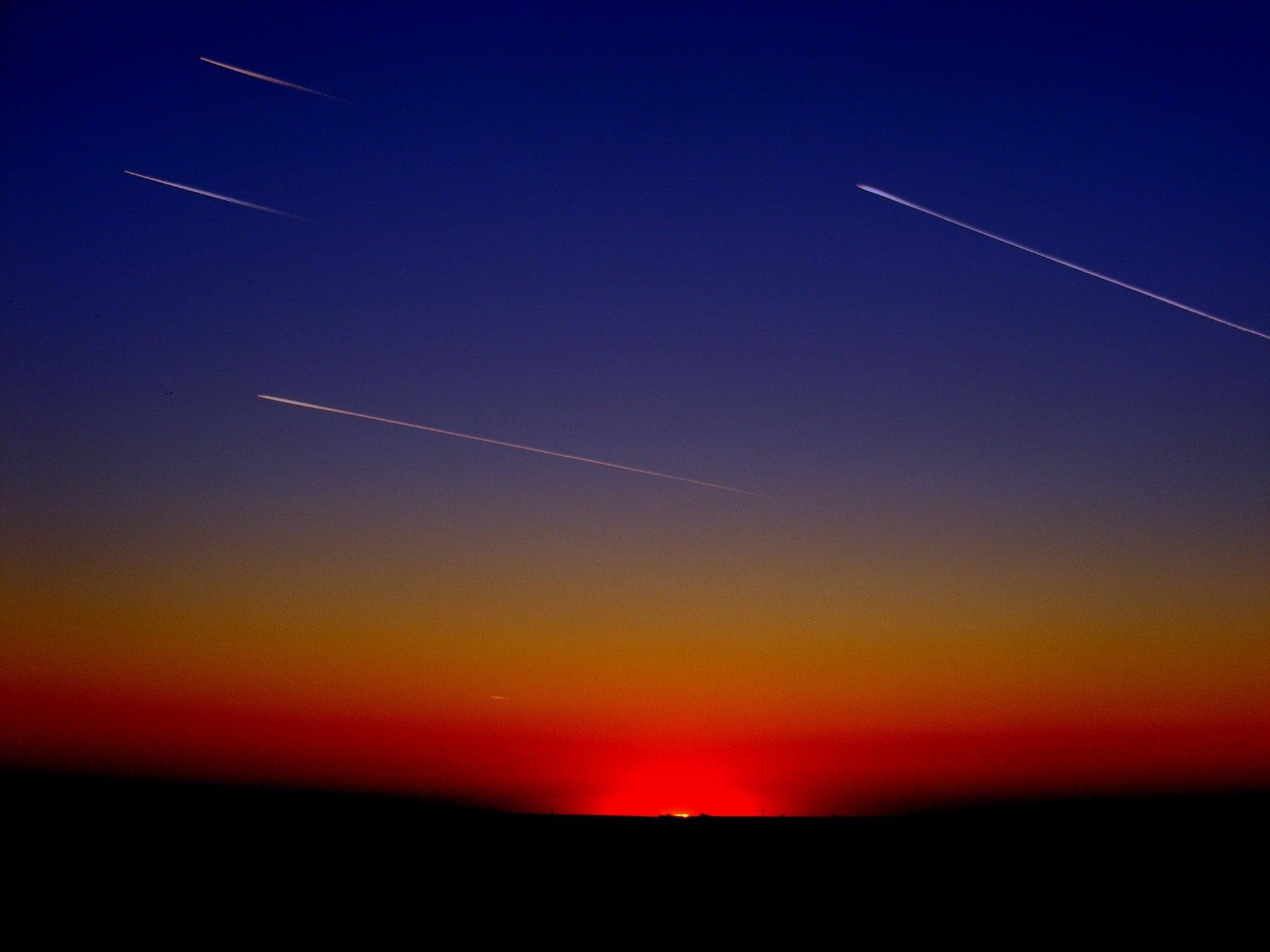 Meteor universe space