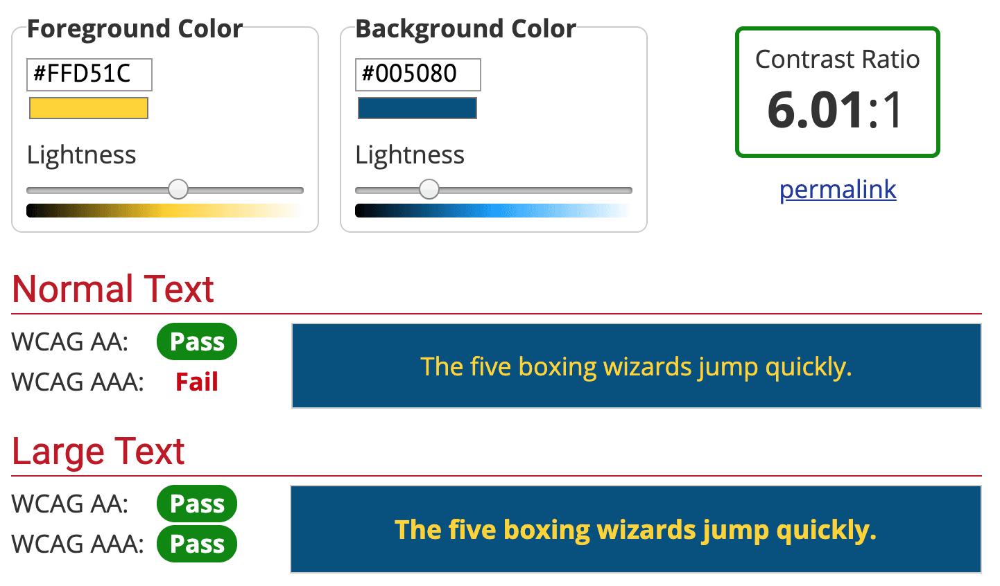Vedfolnir Logo Color Contrast Checker 色彩學:高可讀性配色對比度檢查,杜絕門牌顏色之亂