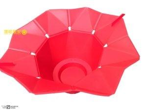 折花疊式矽膠微波爐爆米花桶