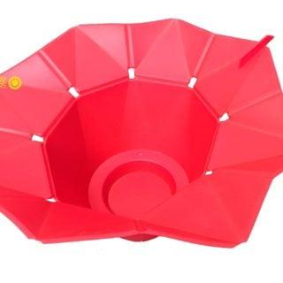 Popcorn microwave oven bowl 02 「折花疊式矽膠微波爐爆米花桶」網購商品秒退心得