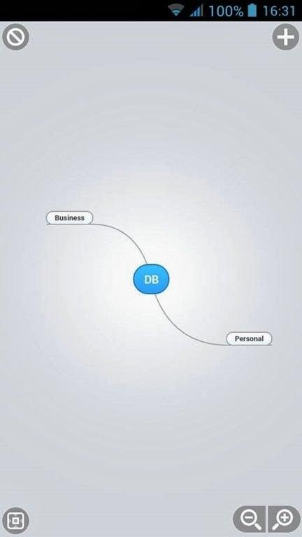MindMeister 手機版的心智圖繪圖畫面