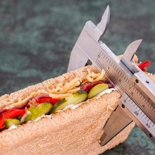 bread calories food sandwich eat fitness diet Vernier caliper 6