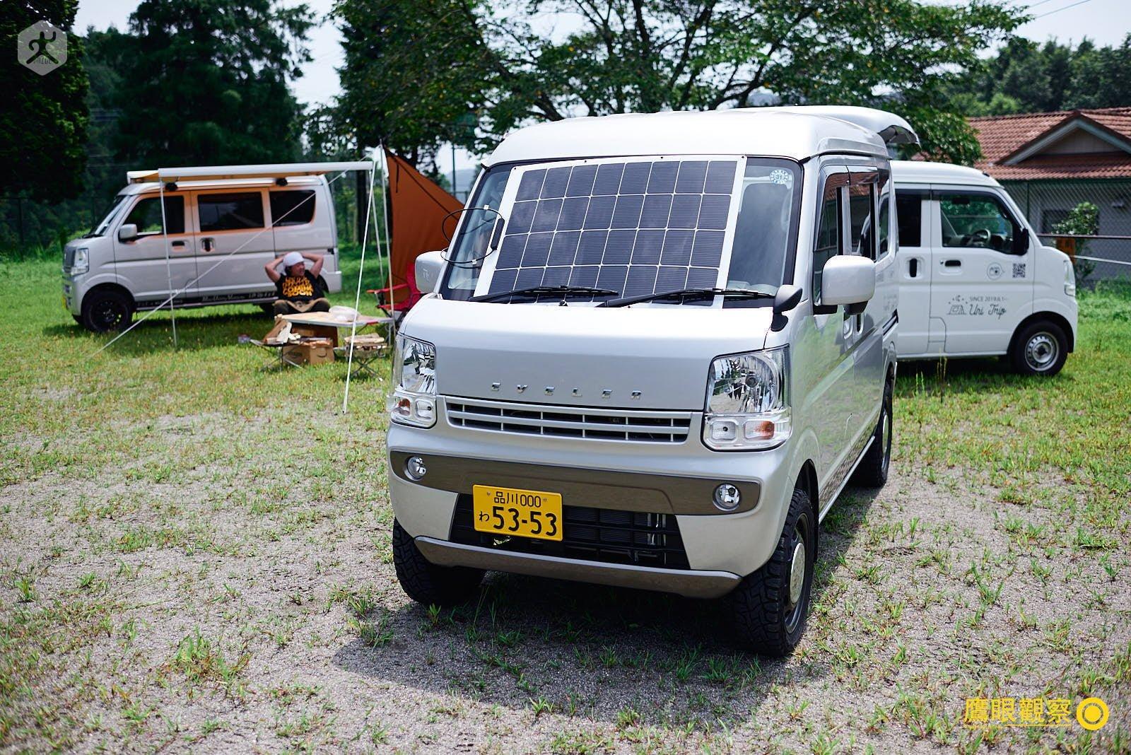 改裝露營車的太陽能板