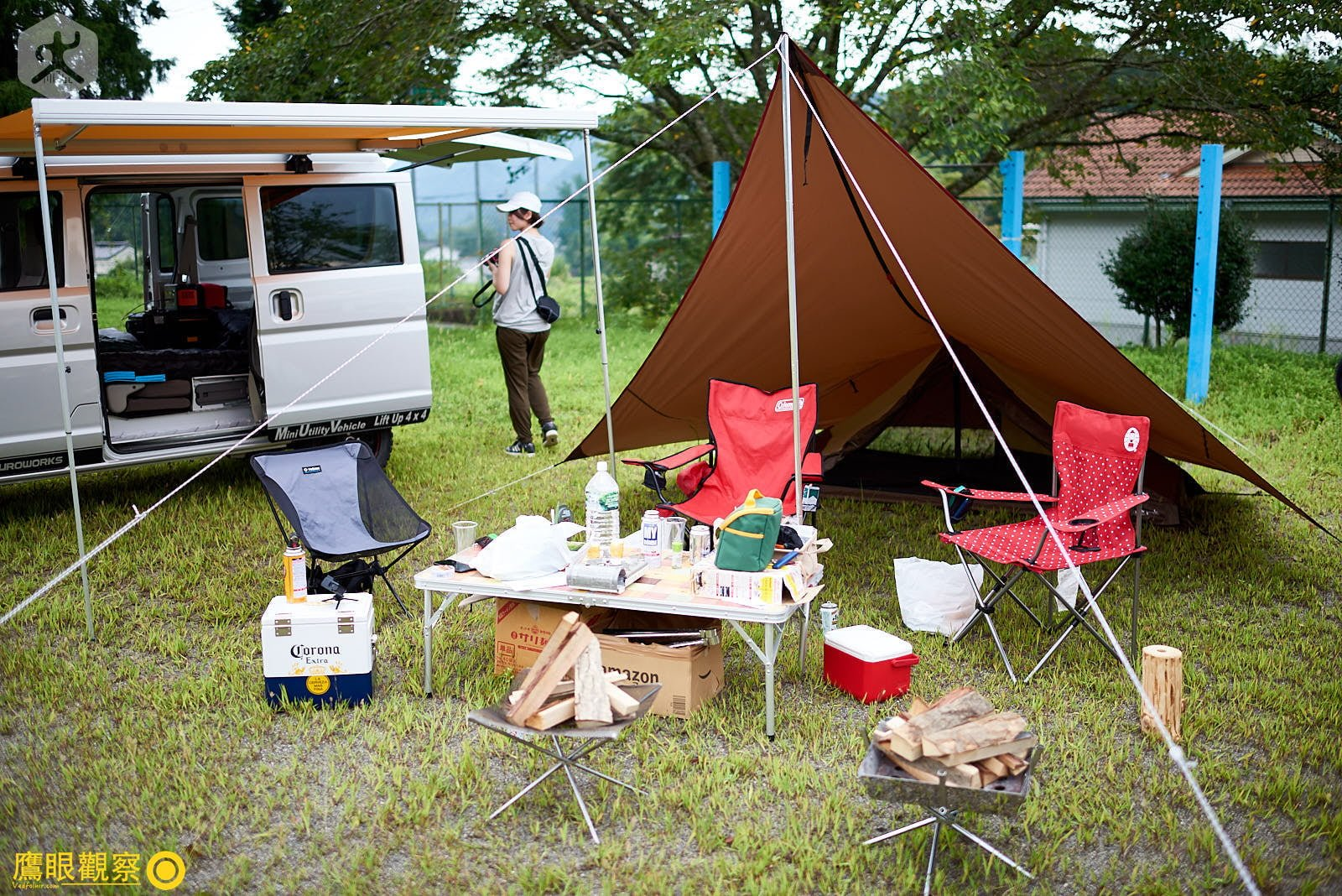 Japan Travel RV Camper Tent 20190817150928 日本廢棄小學 🚗 RV 休旅車露營、森林探險之旅(櫪木縣鹿沼市立久我小學)🇯🇵⛺️