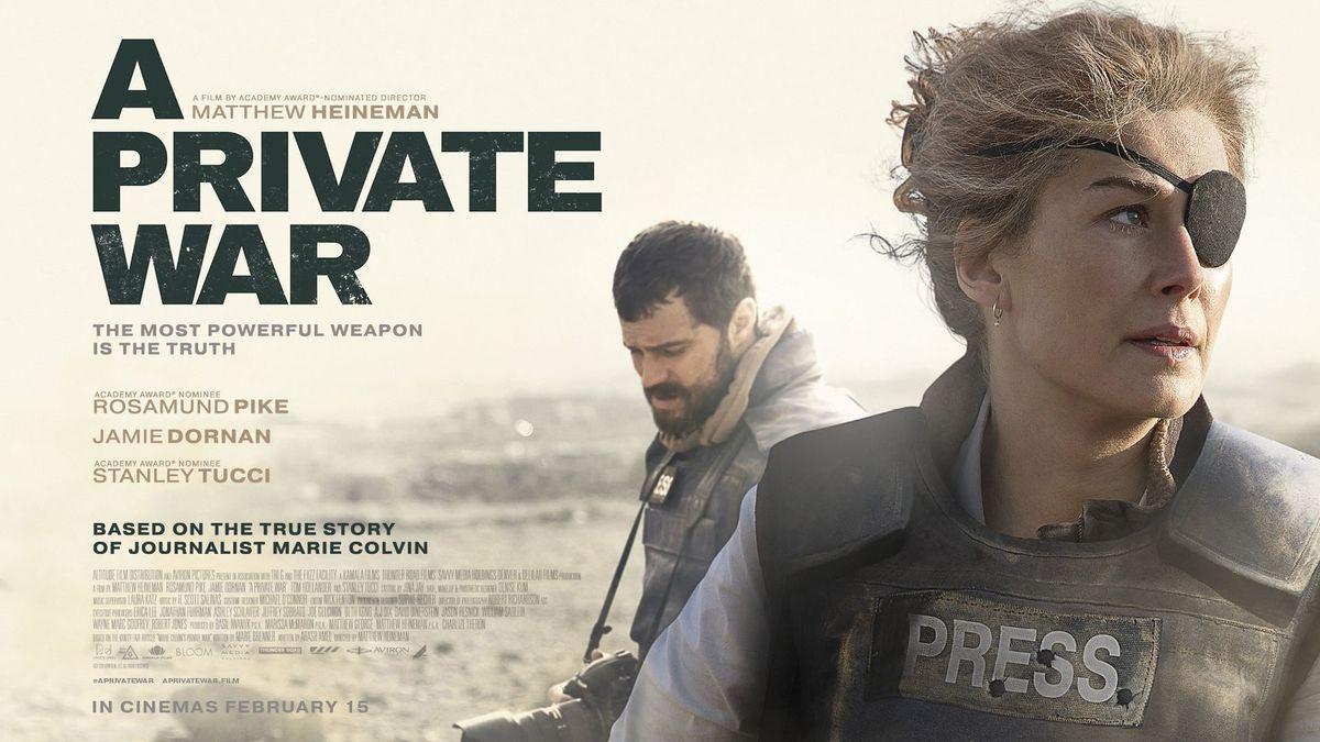 Marie Colvin Movie A Private WAR 私人戰爭(A Private War):原來這就是戰爭...電影