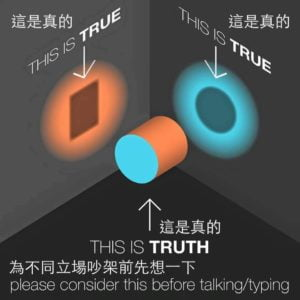 TURE or TURE please consider this before talking typing 假新聞烙印 破壞資訊真相傳播的手段
