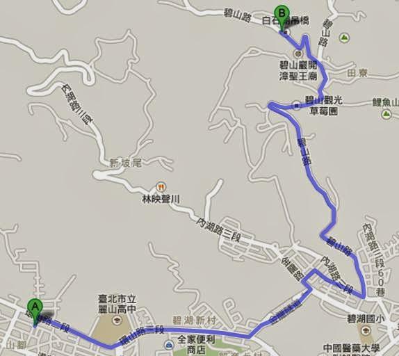 Taiepi Running route Joseph 碧山巖跑步之旅 巧遇黃腔高中女生|約瑟夫札記