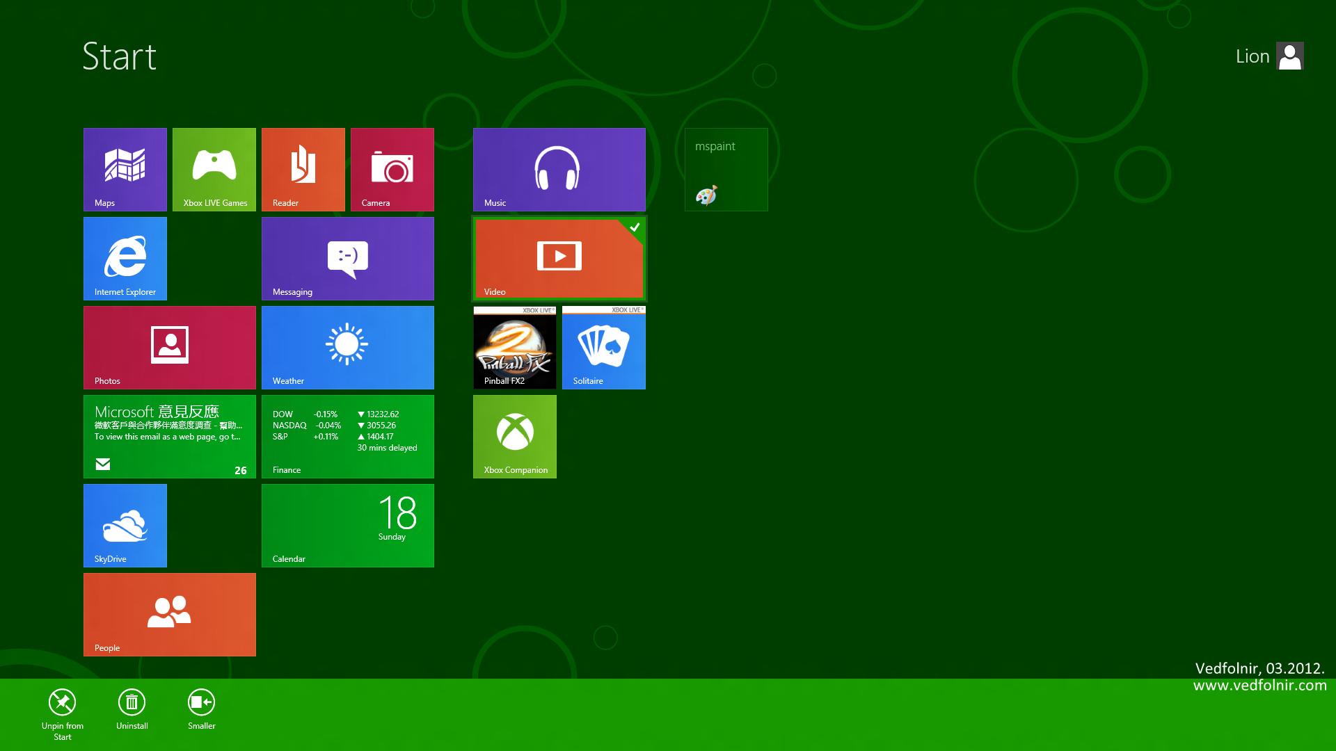 WIndows 8 Metro UI Pin app 微軟 Microsoft Windows 8 Consumer Preview 使用心得與下載教學