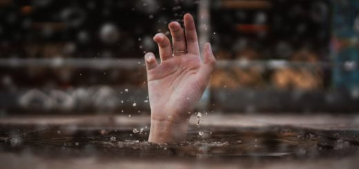 person drowning in water