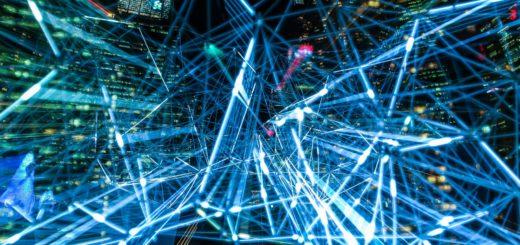 abstract art blur bright network