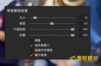 Capture One Mask Repair Brush Size Adjust Method Capture One 消失的設置介面?修復筆刷與遮罩的尺寸和透明度調整方法