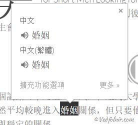 Google Chrome Translate Words Target Chinese to Chinese Vedfolnir 翻譯軟體:Chrome 瀏覽器推薦必裝 Goolge 翻譯工具的免費擴展程式 App