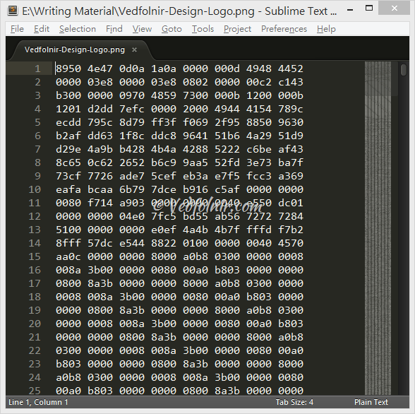 Sublime Text Picture Binary Code Edit Sublime Text 程式與文件編輯器/電腦軟體推薦