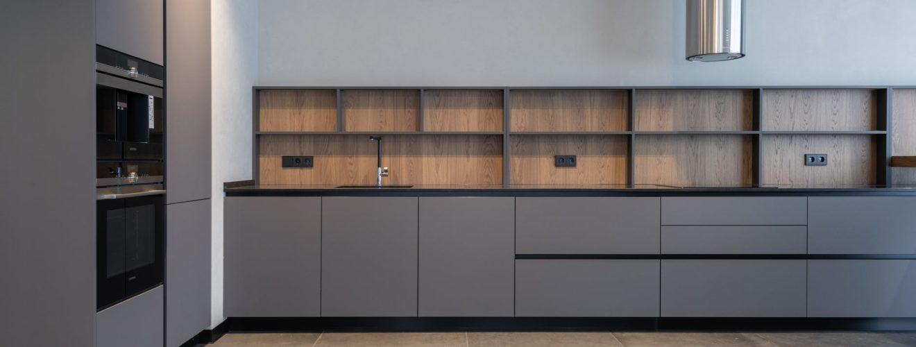 Ventilator spacious kitchen in modern apartment